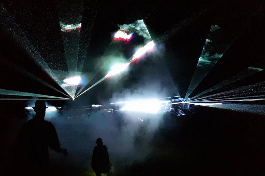 Animation commerciale Jeux lumière Lyon - La Fée Soirée